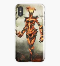 Skyrim Flame Atronach Fan Art Poster iPhone Case