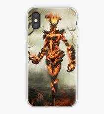 Skyrim Flame Atronach Fan Art Poster iPhone Case