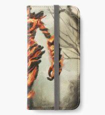 Skyrim Flame Atronach Fan Art Poster iPhone Wallet/Case/Skin