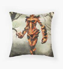Skyrim Flame Atronach Fan Art Poster Throw Pillow