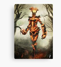 Skyrim Flame Atronach Fan Art Poster Canvas Print