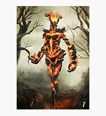 Skyrim Flame Atronach Fan Art Poster Photographic Print