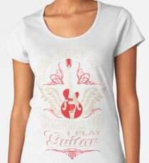 When Life Gets Complicated I Play Guitar Women's Premium T-Shirt
