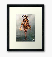 Skyrim Flame Atronach Alternative Fan Art Poster Framed Print