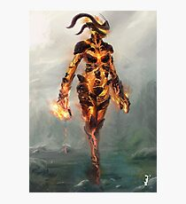 Skyrim Flame Atronach Alternative Fan Art Poster Photographic Print