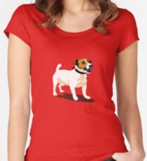 Jack Russell Women's Fitted Scoop T-Shirt