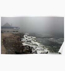 Storm at Narragansett Bay  Poster