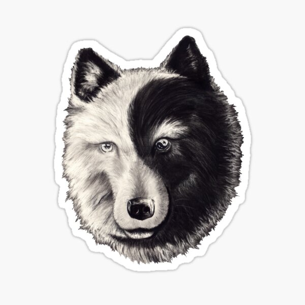 Yin Lang (no characters) Sticker