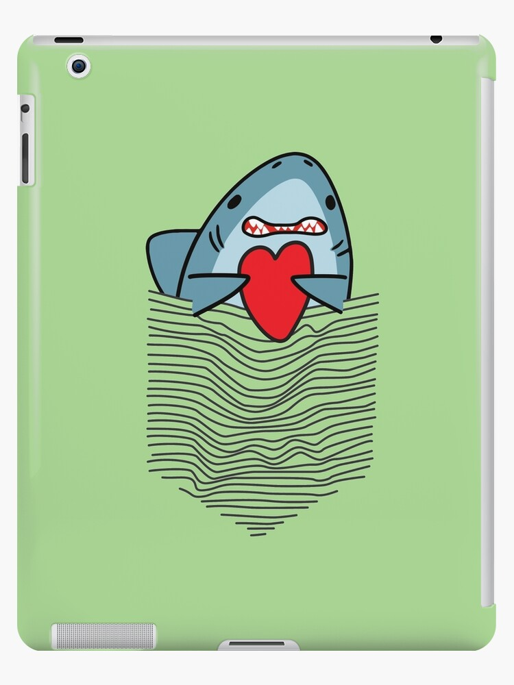 4bbee8f0d Funny Shark In The Pocket, Shark Heart, Matching Tee And Phone Cases And  More Other Gift