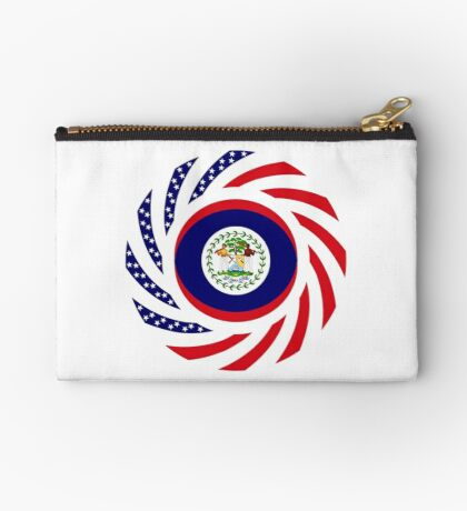 Belizean American Multinational Patriot Flag Series Zipper Pouch