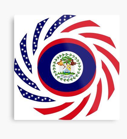 Belizean American Multinational Patriot Flag Series Metal Print