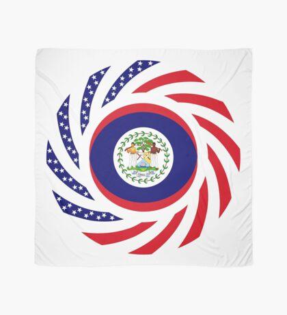Belizean American Multinational Patriot Flag Series Scarf