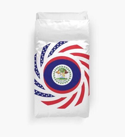 Belizean American Multinational Patriot Flag Series Duvet Cover