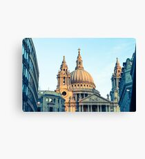 St Paul's Cathedral London with blue sky Canvas Print