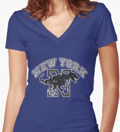 New York T-shirt Women's Fitted V-Neck T-Shirt