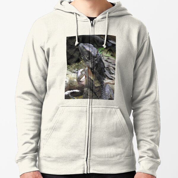 Frilled-necked Lizard Zipped Hoodie