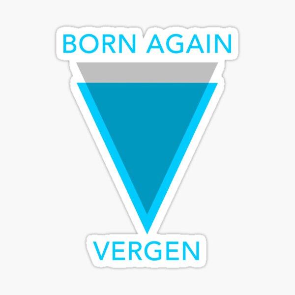 Born Again Vergen Sticker