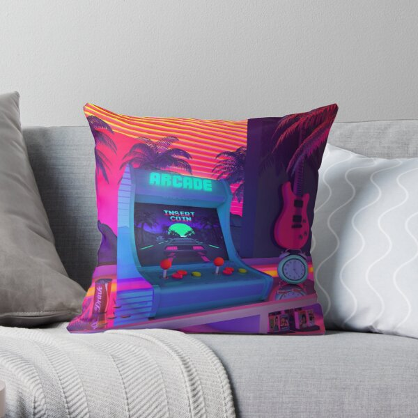 Arcade Dreams Throw Pillow