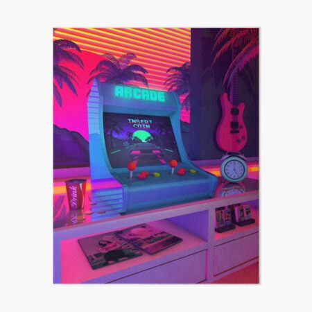 Arcade Dreams Art Board Print