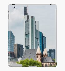 Old church and skyscrapers in Frankfurt iPad Case/Skin
