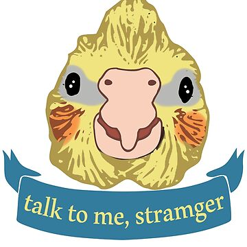 talk to me, stramger - cockatiel doodle by FandomizedRose