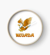 Nevada Eagle Sticker Clock