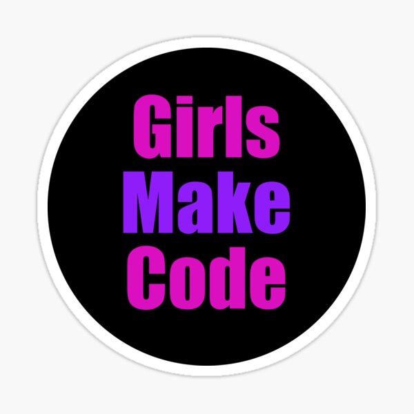 Girls make Code Sticker