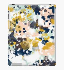 Sloane - Abstract painting in free style navy, mint, gold, white, and turquoise  iPad Case/Skin