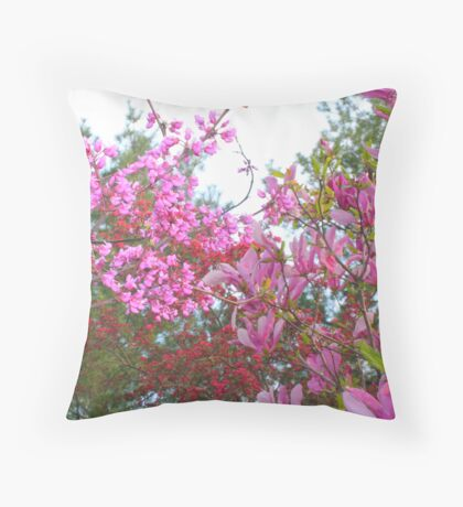 Explosion of Pink Throw Pillow