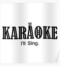 Karaoke black color Poster
