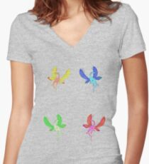 Dragon-Fly Women's Fitted V-Neck T-Shirt