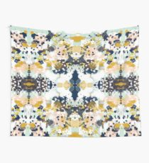 Sloane - Abstract painting in free style navy, mint, gold, white, and turquoise  Wall Tapestry