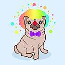 «Perro Pug en un disfraz de payaso» de EuGeniaArt