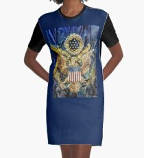 US Infantry Regimental Colors of the Great War Graphic T-Shirt Dress
