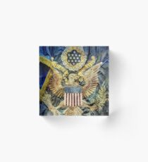US Infantry Regimental Colors of the Great War Acrylic Block