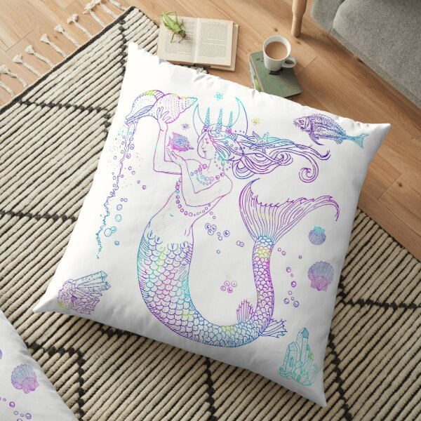 Mermaid Princess Floor Pillow