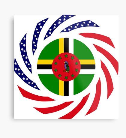 Dominica American Multinational Patriot Flag Series Metal Print