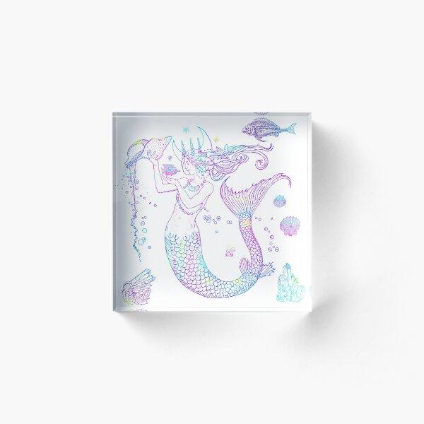 Mermaid Princess Acrylic Block