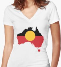 Aboriginal Women's Fitted V-Neck T-Shirt