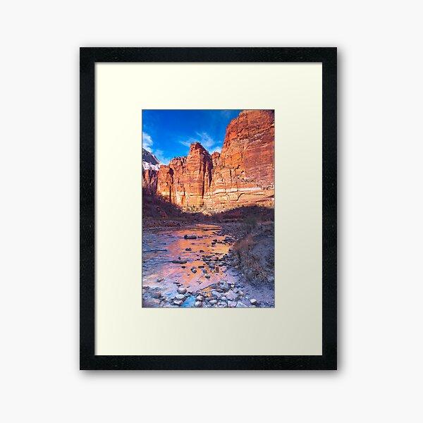 Zion Cliffs from the Virgin River Framed Art Print