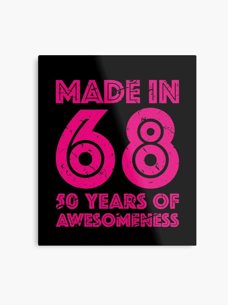 50th Birthday Gift Adult Age 50 Year Old Women Womens Metal Print Front