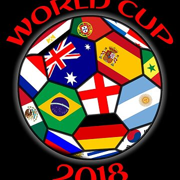 Russia 2018 ball flags world cup by ideasfinder