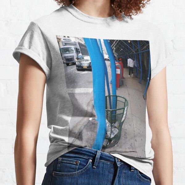 Curb, #Curb, #59Street #CityHall, pattern, design, tracery, weave, #pattern, #design, #tracery, #weave, New York, #NewYork, Manhattan, #Manhattan Classic T-Shirt