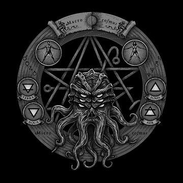 Cthulhu Pentagram (Dark) by jflemay