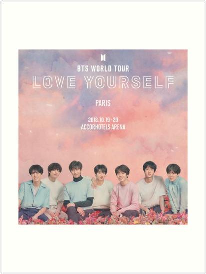 Bts World Tour Paris Art Prints By Pookipsy Redbubble