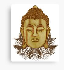 Buddha On Lotus Canvas Print