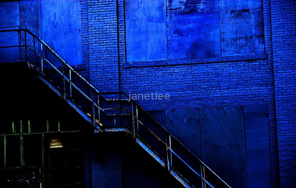 Stairs to Blue by janetlee