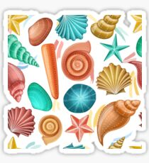 Colorful shell pattern for summer Sticker