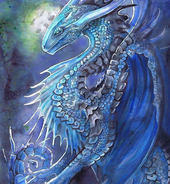 Blue Dragon by Dawn Paws