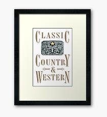 Classic Country & Western (Longhorn Star) Framed Print